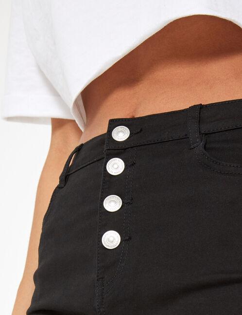 short basic taille haute noir