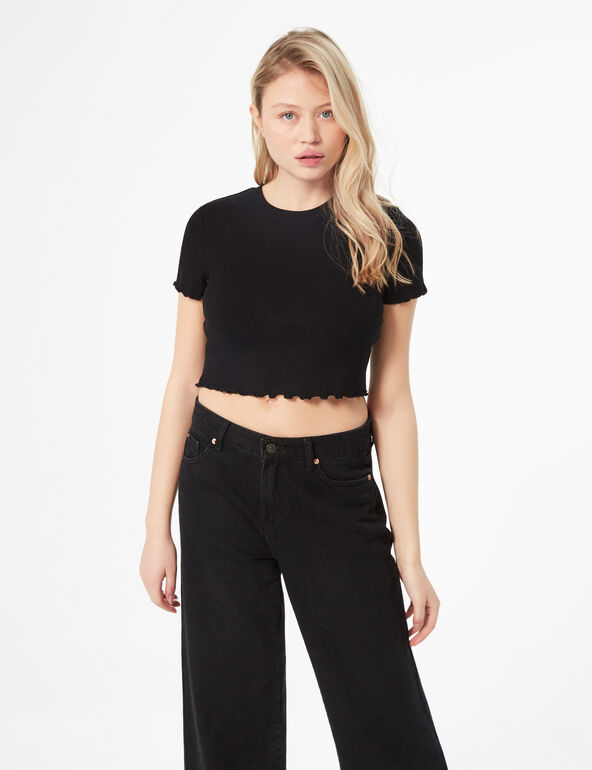 Ribbed crop top