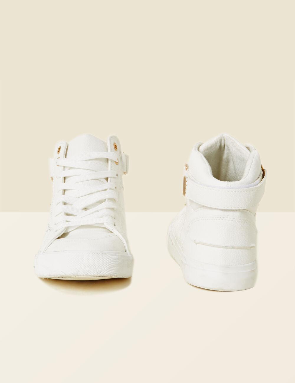 Assez Baskets montantes blanches femme • Jennyfer SO68 e817b37ca5b1