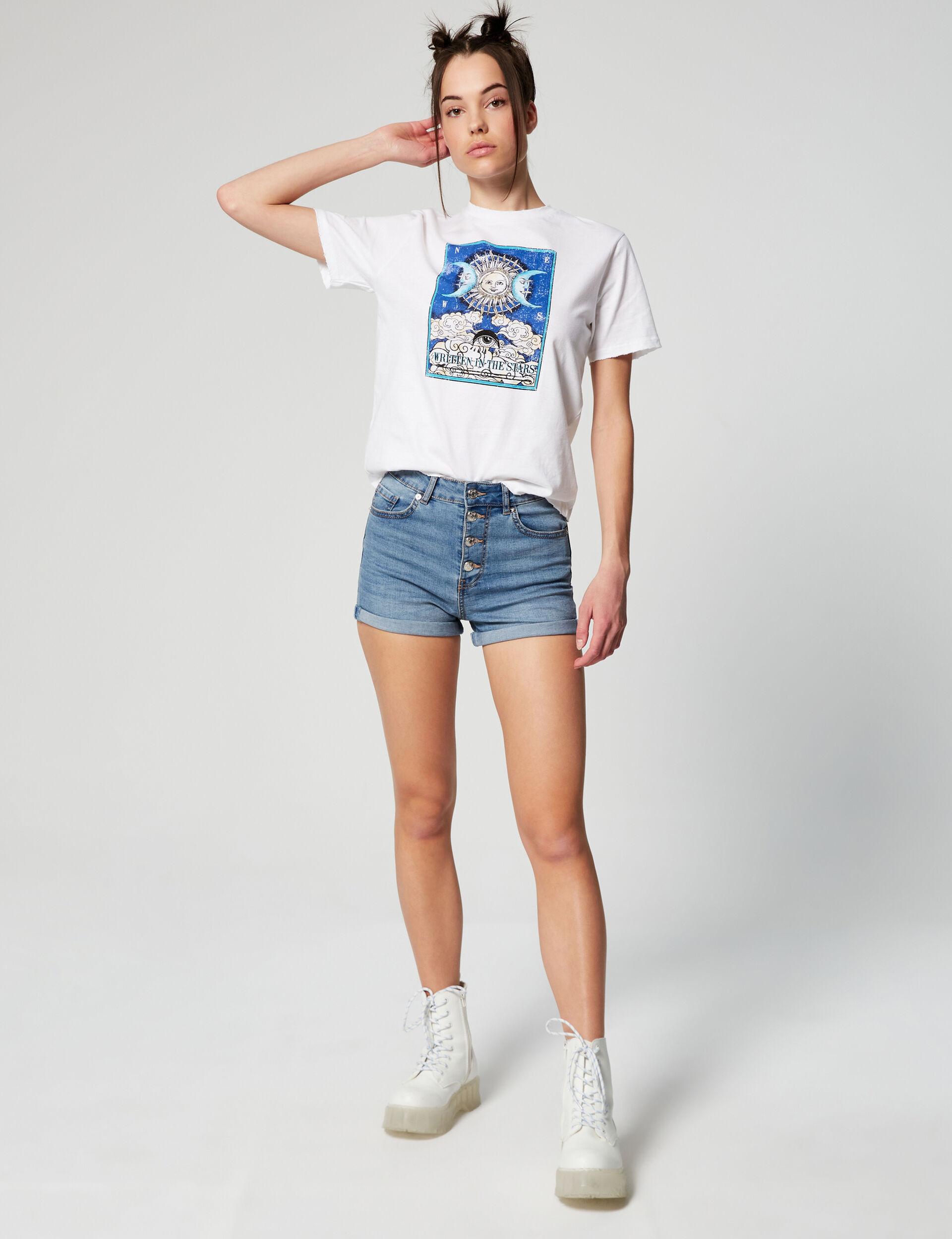 Short en jean skinny