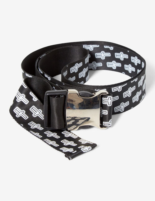 Belt with logos