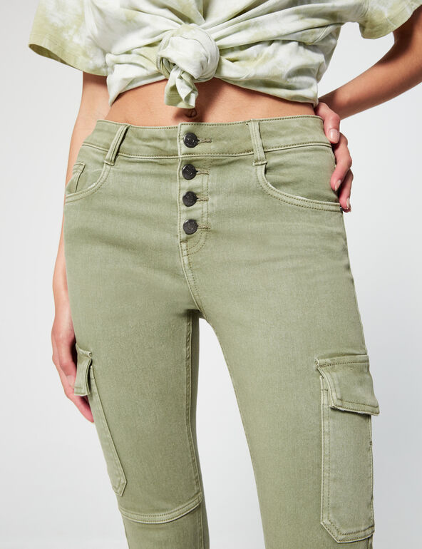 Skinny-fit trousers with pockets