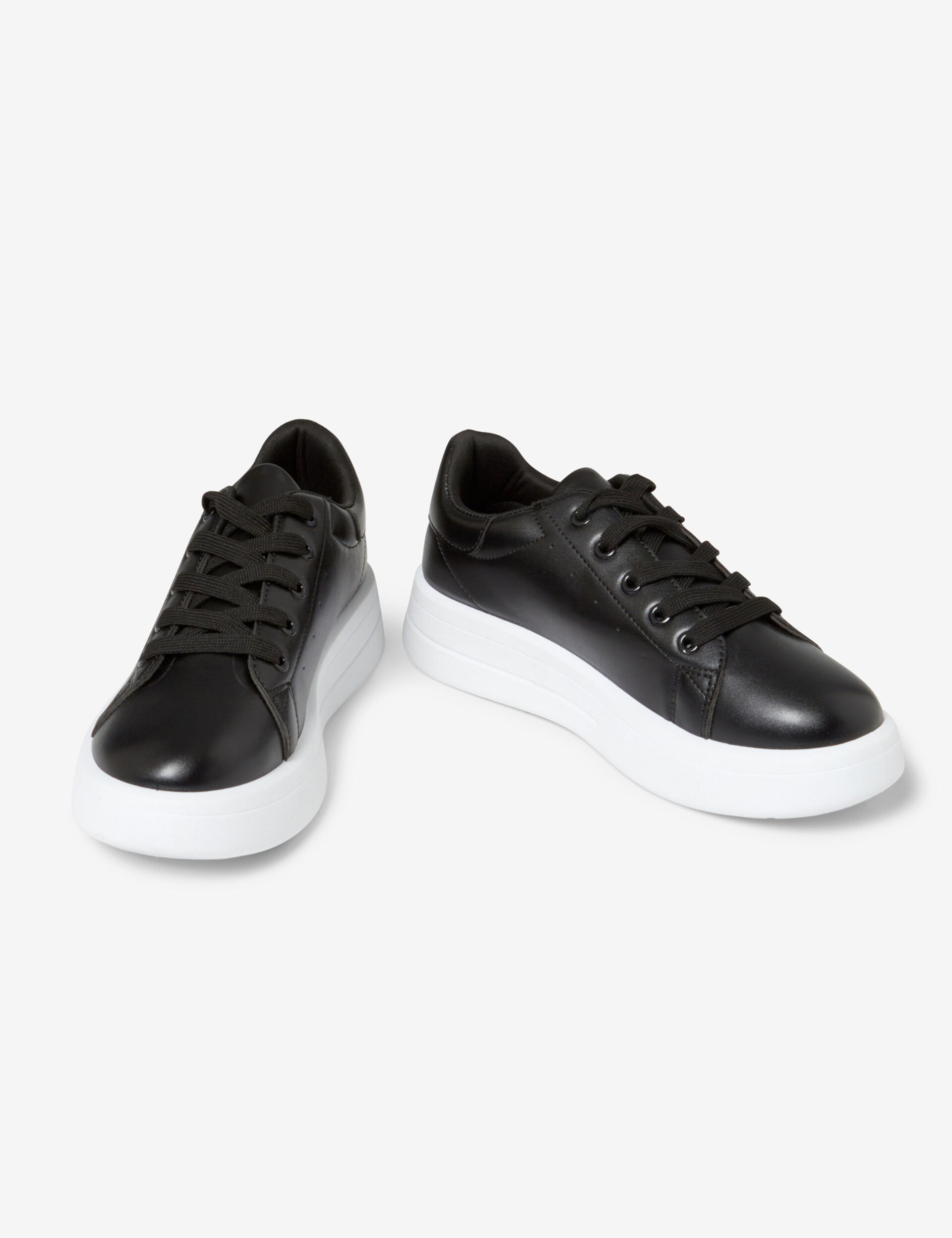 Imitation leather trainers