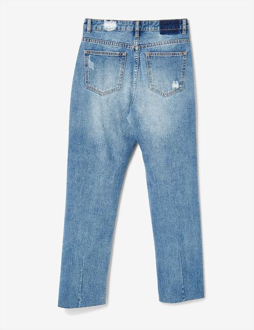 jean straight destroy medium blue