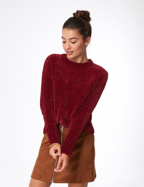 Burgundy chenille jumper