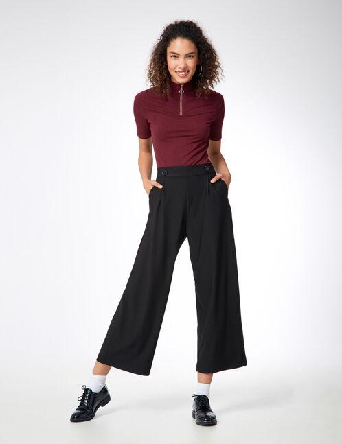 pantalon noir large jennyfer