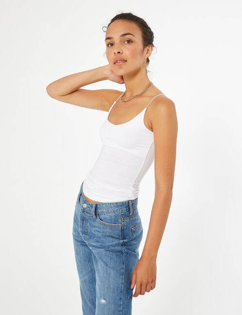 basic elasticated camisole