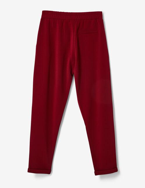 pantalon à pinces bordeaux