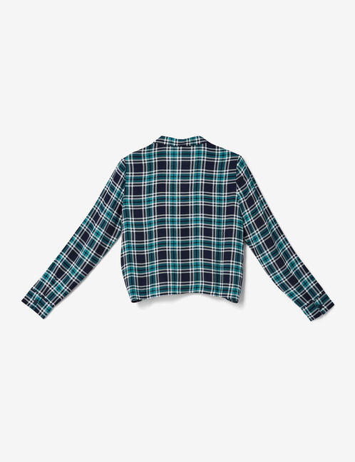 Blue and green checked shirt