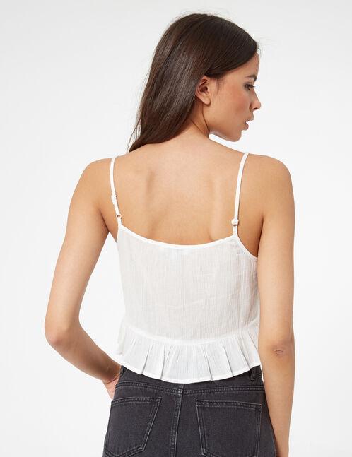 embroidered short vest top