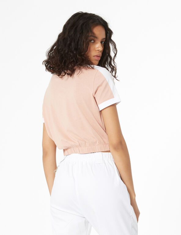 Plain elastic t-shirt