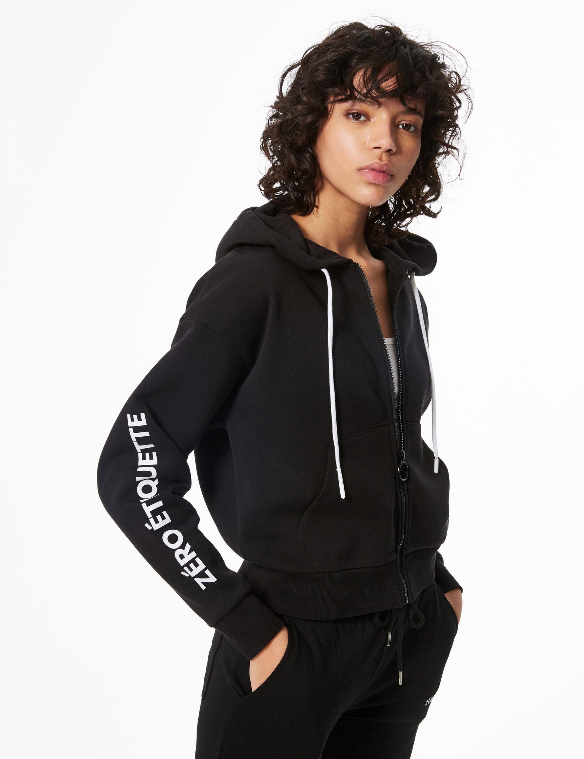 'Don't call me' zipped hoodie