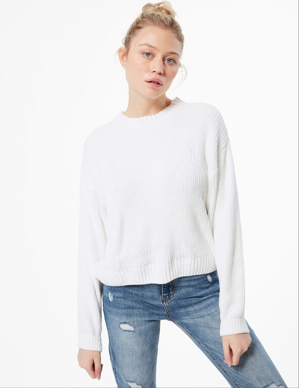 Oversized chenille jumper