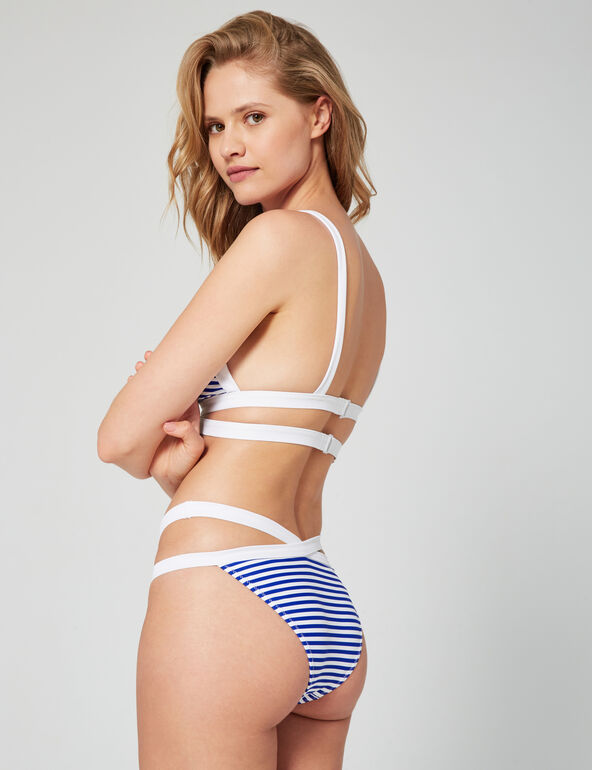 Striped bikini briefs