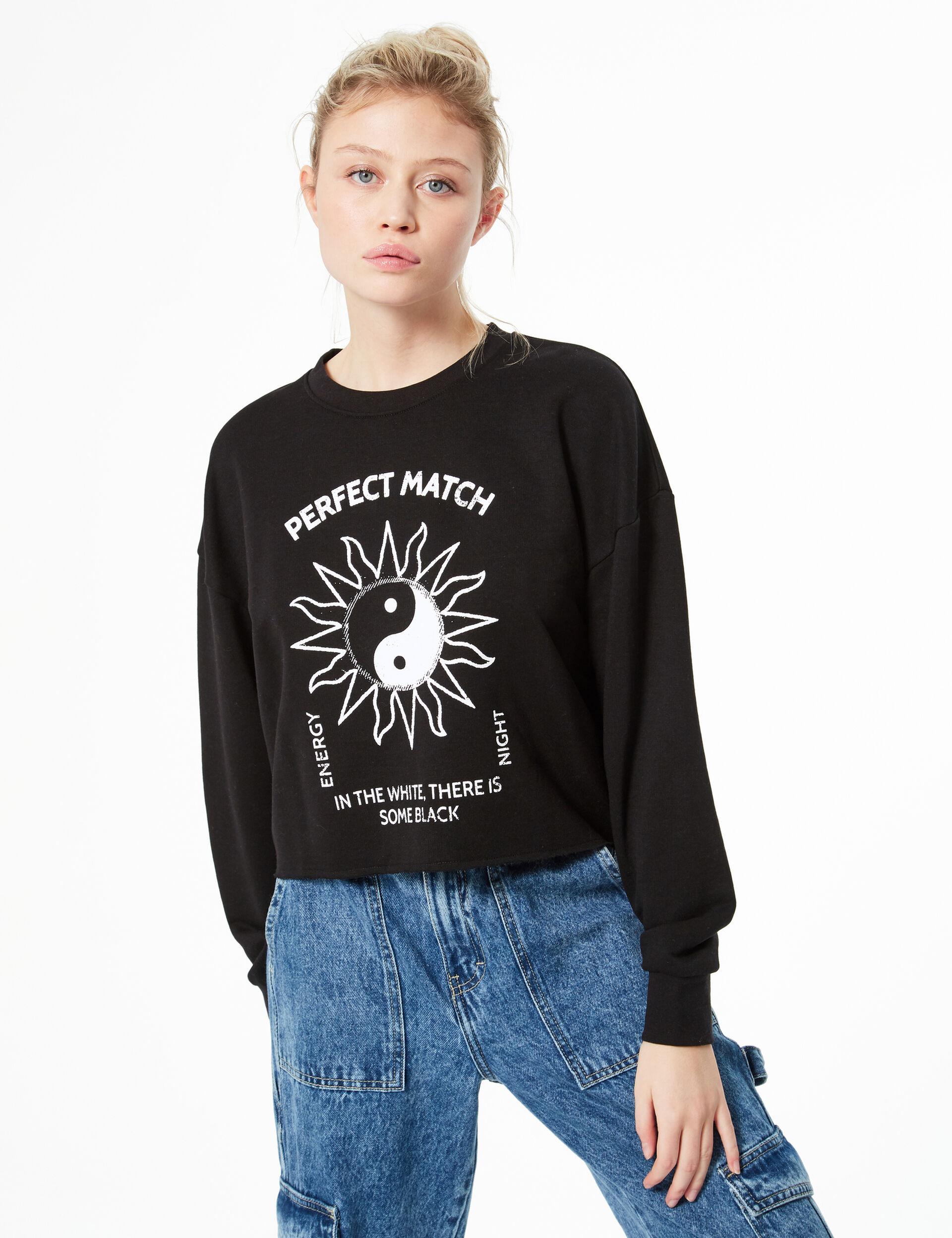 Yin yang slogan sweatshirt