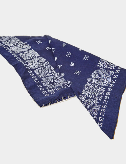 bandana avec chaînette bleu marine