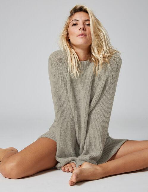 Long grey marl jumper