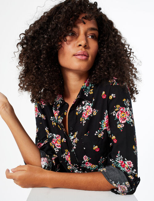 Floral fitted shirt