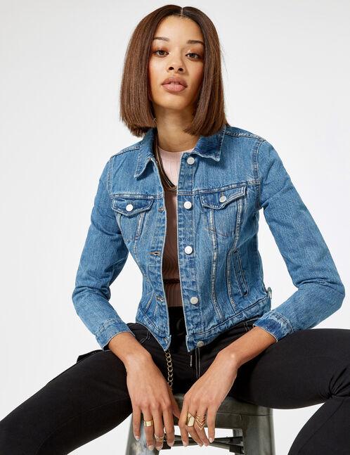 veste en jean bleu clair femme jennyfer