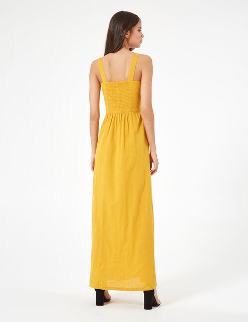 robe longue ocre
