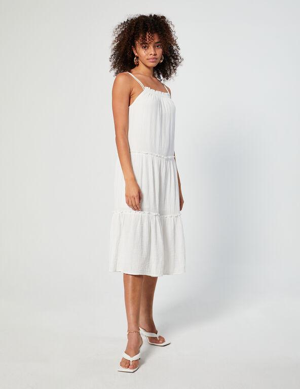 Frilled long dress