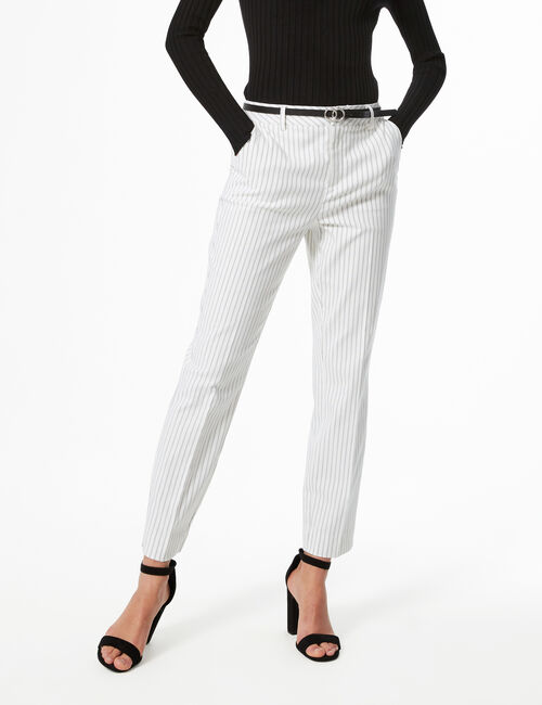 Striped tailored trousers