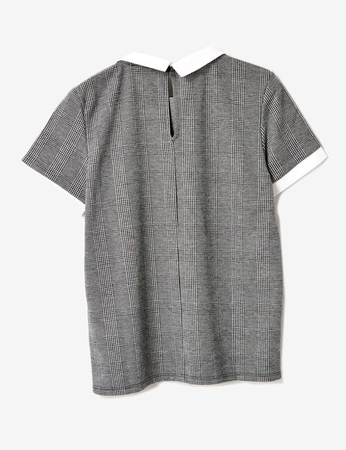 Grey glen check top