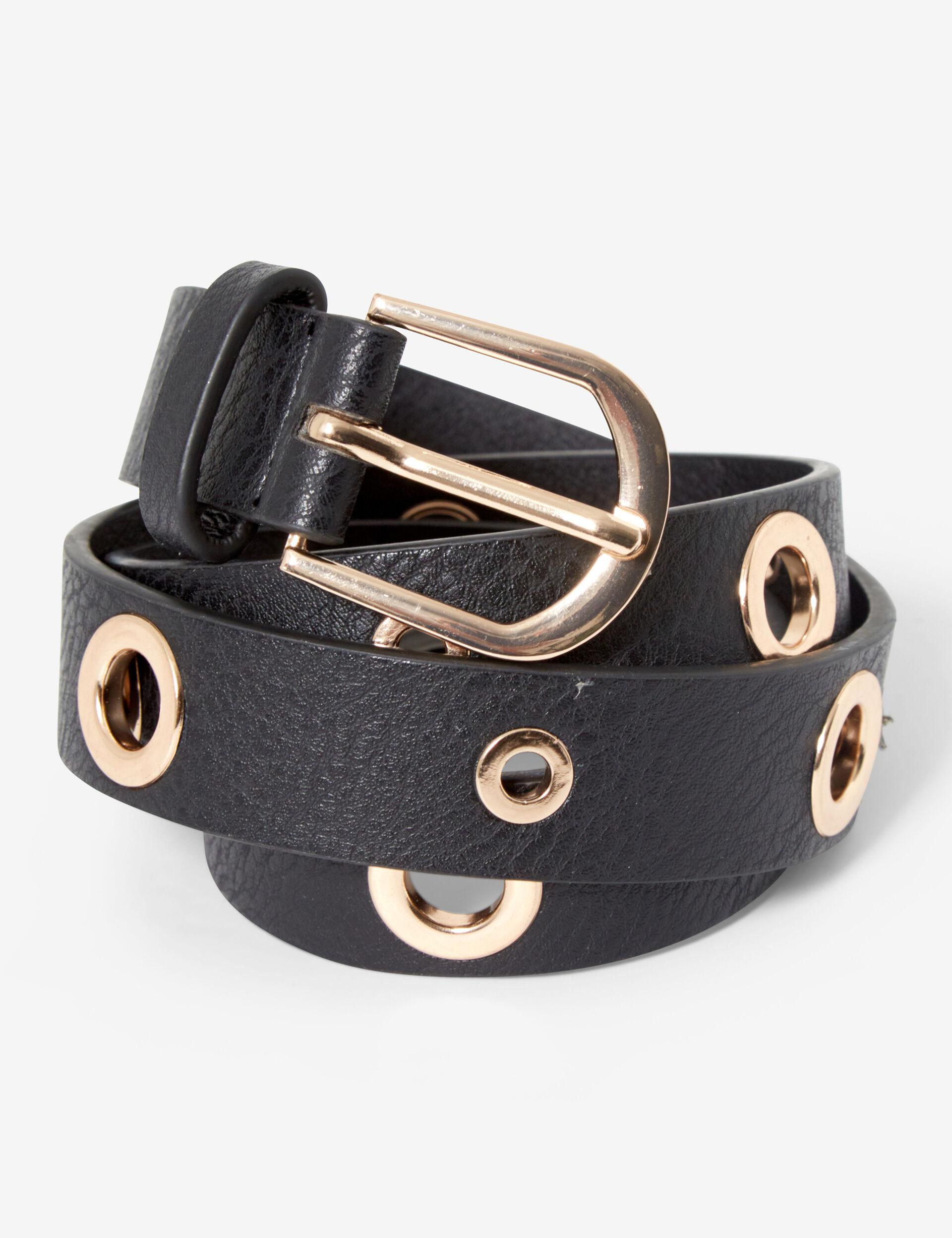 Slim belt with eyelets