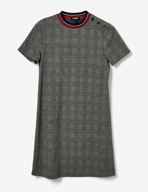 Grey glen check dress