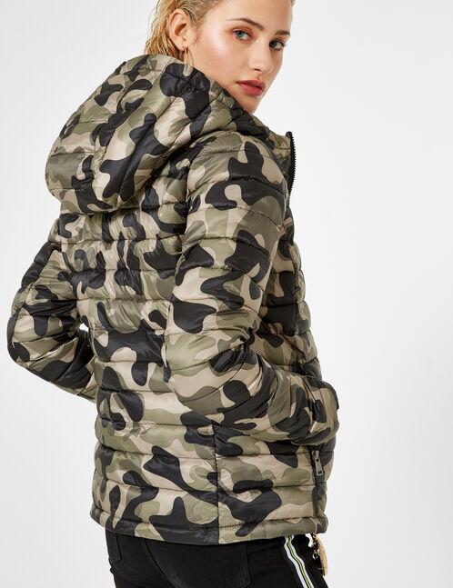 doudoune camouflage kaki