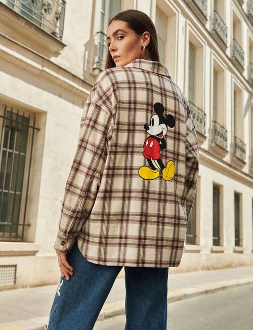 Chemise à carreaux Mickey
