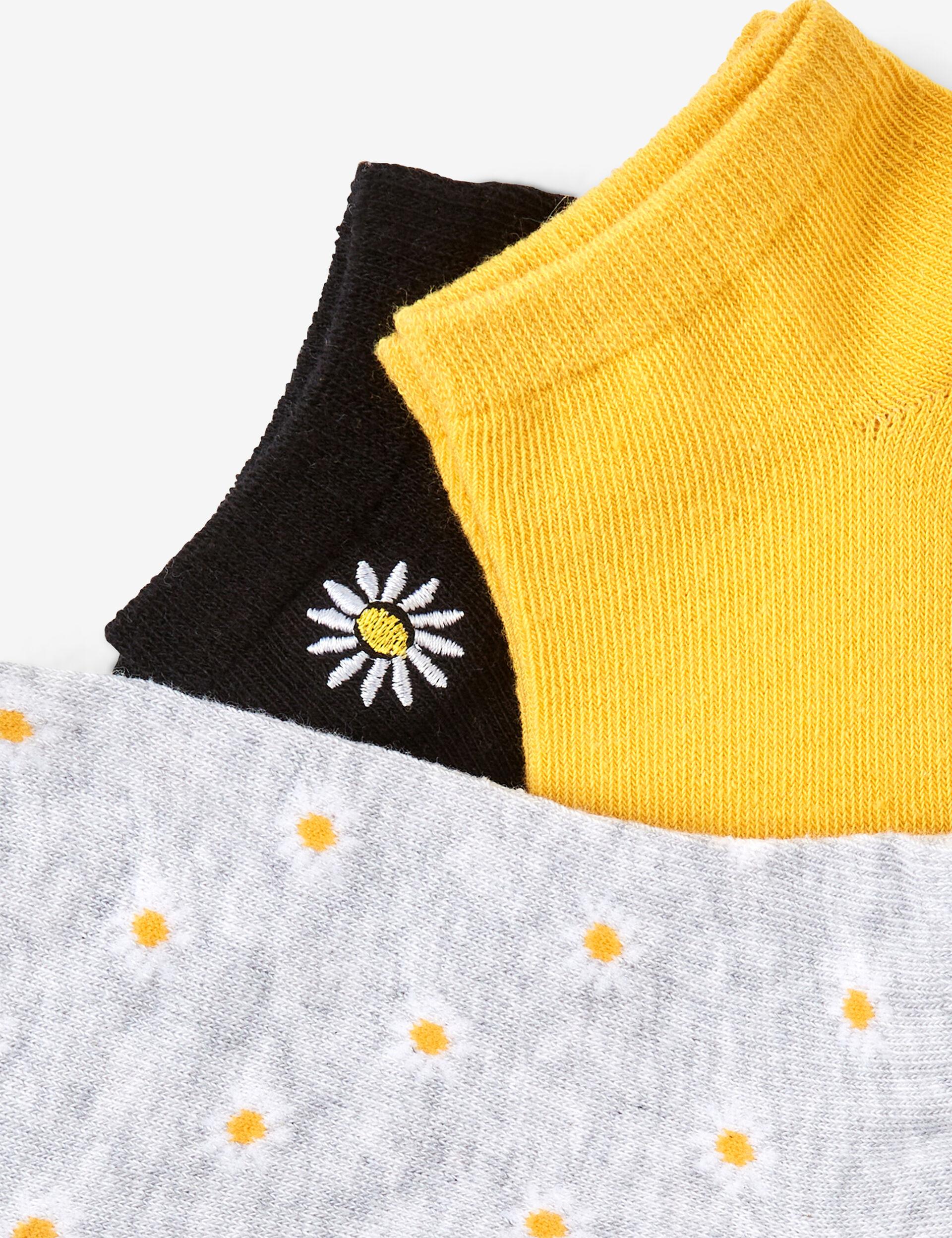 Chaussettes  basics à fleurs