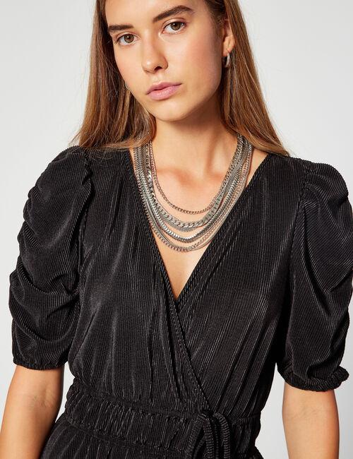 Crinkle-effect dress