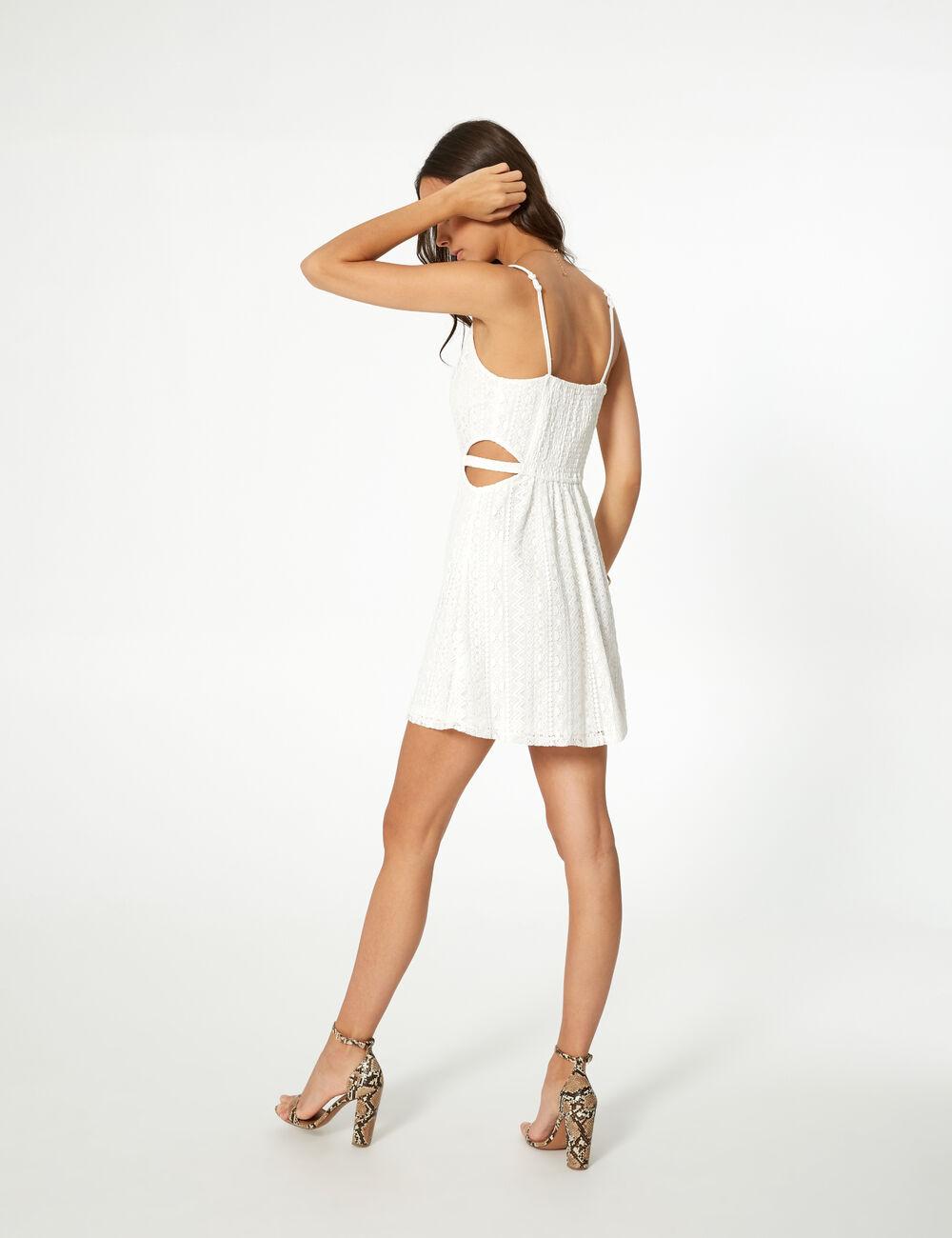 Robe moulante blanche jennyfer