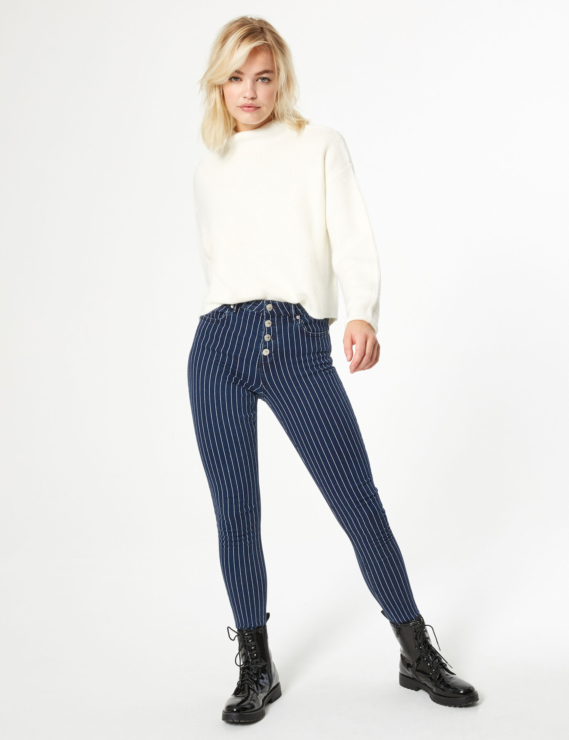 Rib-knit jumper
