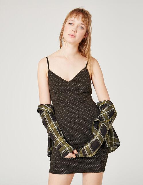 robe avec petits clous noire