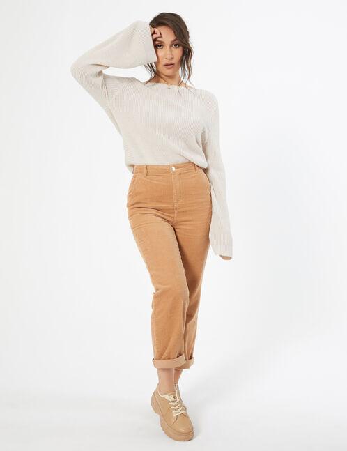 x The Doll Beauty beige sweater
