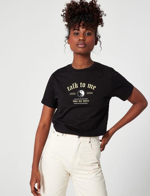Tee-shirt loose yin et yang