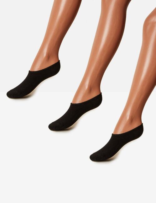 Black invisible socks