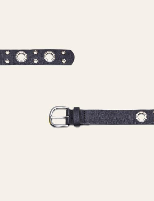 ceinture à œillets noire