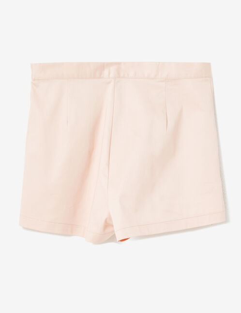 Light pink tailored shorts