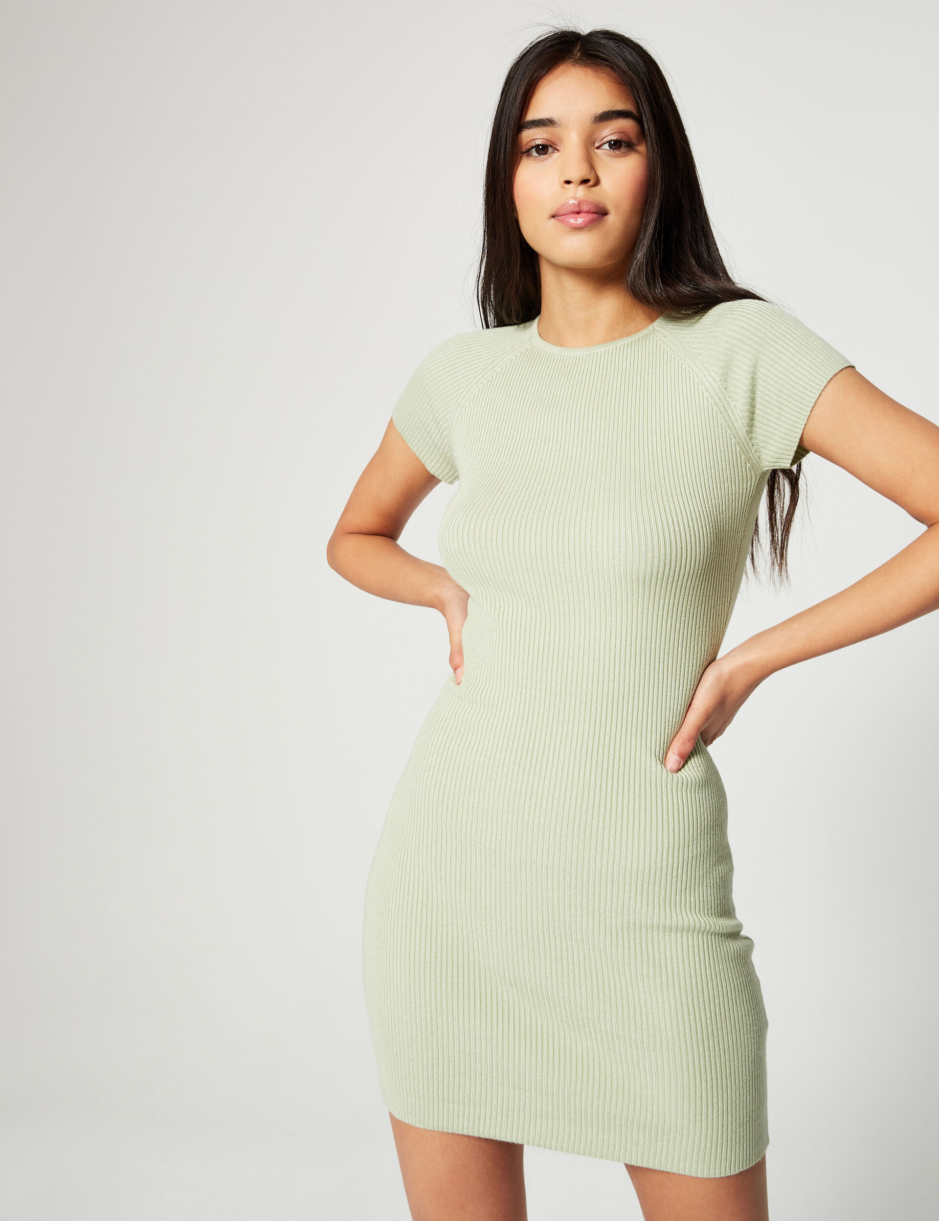 Ribbed jumper dress