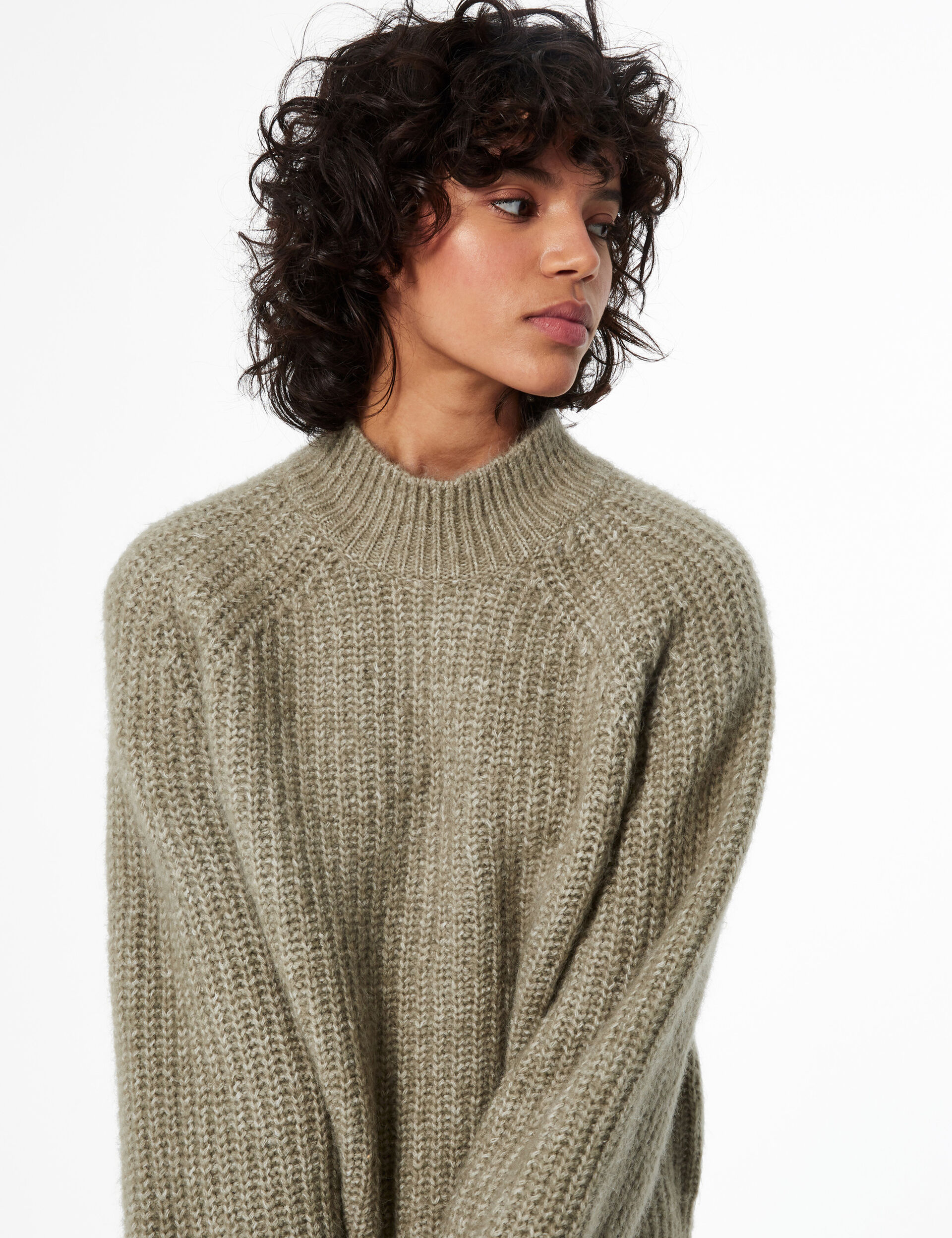 Braided knit jumper