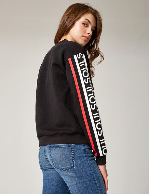 "Black ""soul"" sweatshirt"