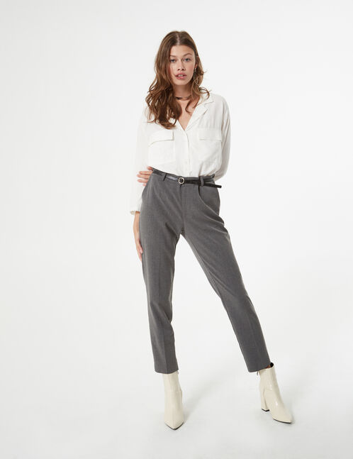 tailored trousers with belt