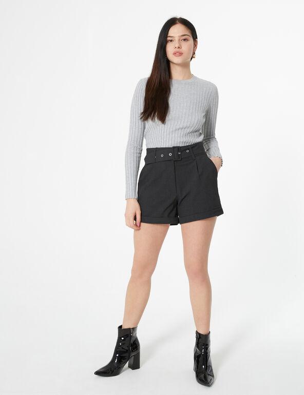 Short taille haute ceinturé