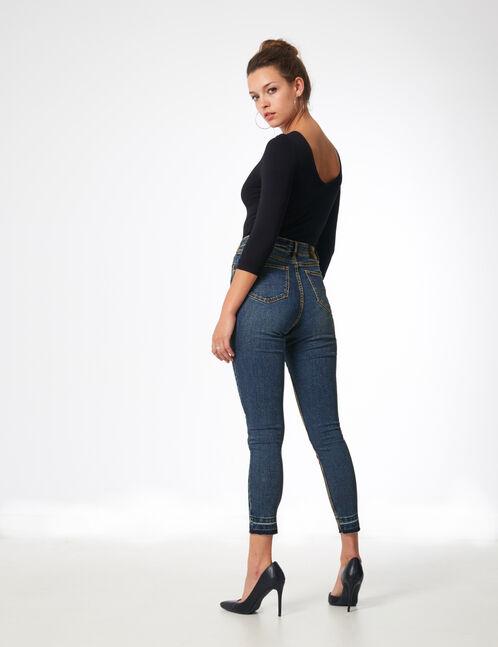 jean taille haute medium blue