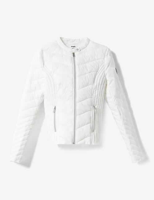 Cream lightweight padded jacket