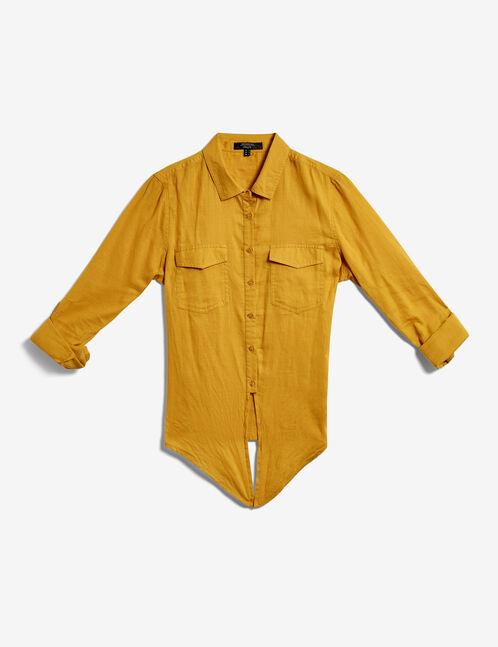 chemise à nouer ocre