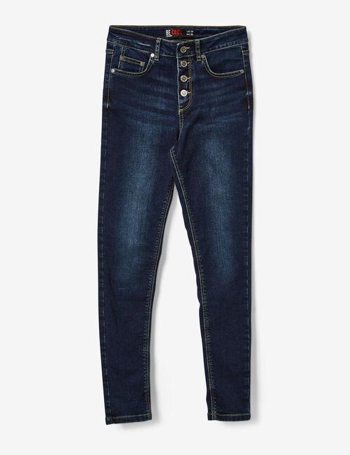 jean taille haute boutonné brut
